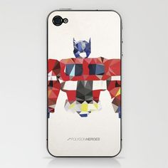Polygon Heroes - Optimus Prime iPhone Skins and Cases