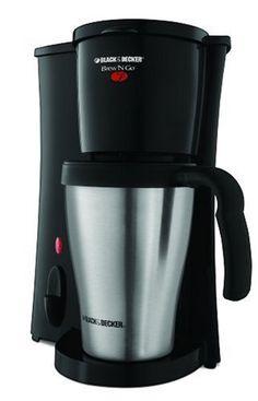 Black & Decker DCM18S Brew `n Go Personal Coffeemaker with Travel Mug - List price: $19.99 Price: $14.19 Saving: $5.80 (29%)