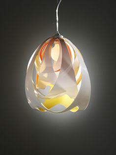 Pendant lamp GOCCIA by Slamp | design Stefano Papi - I like the little pops of color peeking out