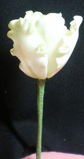 Frilly Sugar (gum paste)Tulip tutorial