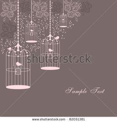 stock vector : bird cages design
