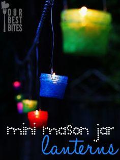 mini lantern, jar hang, jar lantern, craft things to do with kids, camp idea