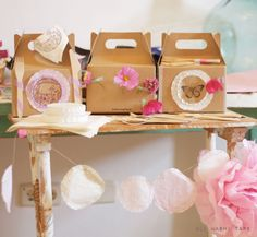 cajitas tape packag, lunch boxes, food idea, craft idea, doilies, tapes, washi tape, packaginggift wrap, masking tape