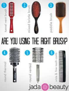 Which Hair Brush Should I Be Using? | Jadabeauty.com
