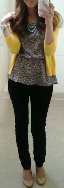 Yellow and floral top