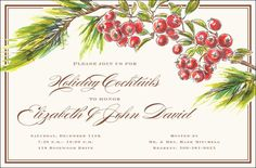 Berry Boughs Invitations