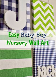 A simple wall art project, perfect for a nursery or a kid's room.