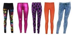 Before you wear these, ask yourself. Are you in the 1980's? Are you a man in a heavy metal band? If the answer to either of these questions is no, put the leggings down.