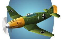 Aviation Free Vectors Set IV - BF109 Airplane @freebievectors