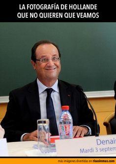 La fotografía secreta de Hollande.