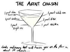 cocktail recipes, aveng drink, agent coulson, aveng cocktail, food, coulson cocktail, drink recip, cocktails, the avengers