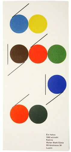 """:: """"Wishing you a happy 1960,"""" by the Swiss designer, Walter Marti. ::"""