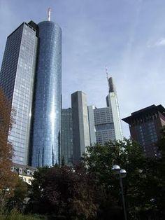 The Financial District in Frankfurt