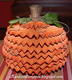 Paper Rosette Pumpkin!