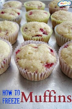 How to Freeze Muffins