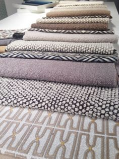 These touchable textures from Bernhardt have got us thinking about our favorite fall sweaters. NeoCon 2014