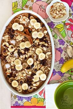 Roasted Banana Chai Oatmeal | Vegan & Gluten Free Recipe | FamilyFreshCooking.com