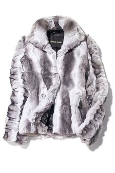Faux Fur Chinchilla Jacket by Naem Khan #Faux_Fur #Naem_Khan #Jacket