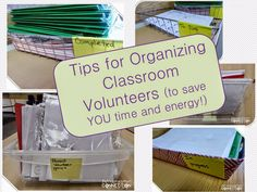 You Oughta Know About....Classroom Volunteers. These post has fabulous ideas for organizing volunteers in the classroom!