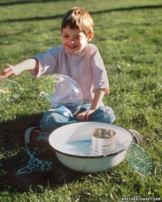 Homemade soap bubbles for bubble blowing