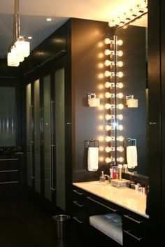 Love this for my house. Vanity in closet