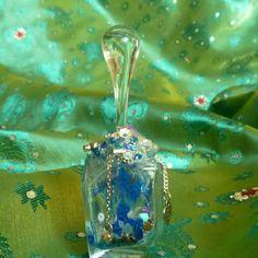 jar, glass teardrop