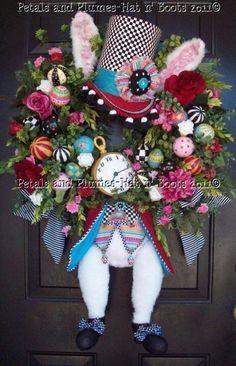 Hatter Rabbit Wreath
