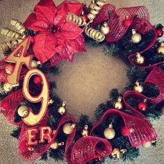 49er Christmas wreath