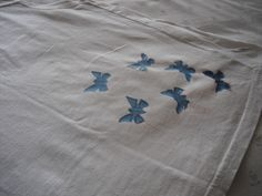 Picture of Fusing plastic bag butterflies to shirts