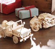 remote controlled wooden cars