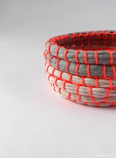 the red thread :: Neon Coil Bowl Tutorial