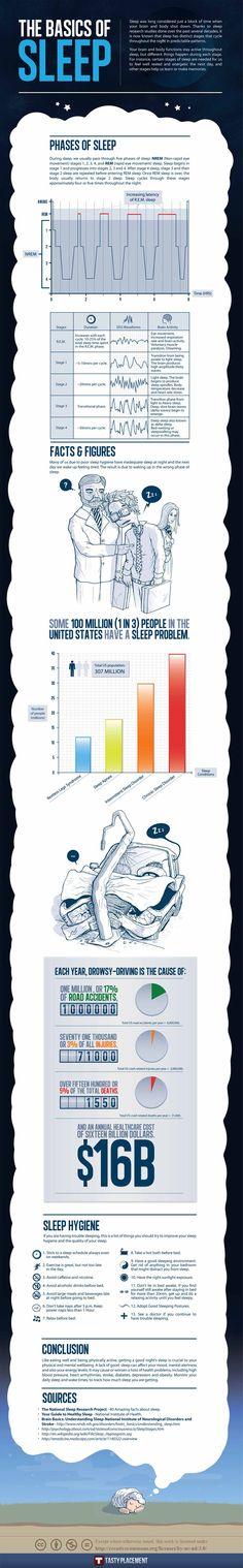 The Basics of Sleep infographic