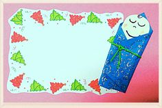How about sharing baby Jesus story through this cute card?? :)
