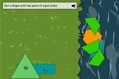 Listen to the shape properties described, then grab the right shapes from the river. Follow the instructions to rescue shapes from the river. Pupils can then rotate the shapes to slot them together on the river bank.