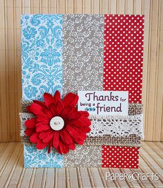Thanks for Being a Friend Card by @Susan Caron Opel