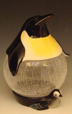 Ceramic Penguin/Glass Belly Cookie Jar: Amazon.com: Kitchen & Dining