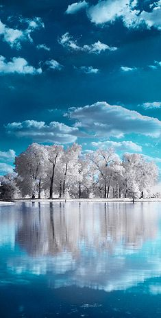 Clear and calm winter day ~~ Andrew Hefter