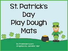 St. Patrick's Leprechaun Play Dough Mats