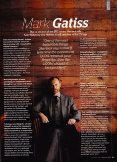 """Mark Gatiss, co-creator and actor in BBC """"Sherlock"""" gives an interview."""