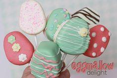 Eggmallows for Easter.  tutorial