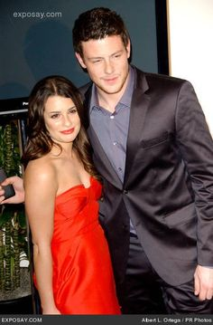 Lea Michele and Cory Monteith. R.I.P