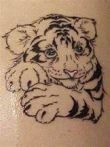 White Tiger Cub Tattoo