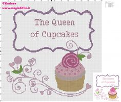 The Quenn of Cupcakes - free cross stitch patterns