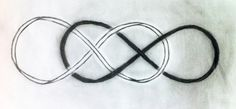 Double infinity black and white