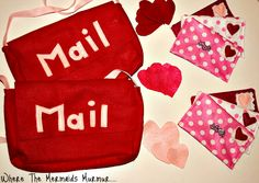 Valentines Felt Mail and Mail Bags