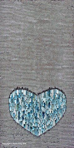 Quilt inspiration - Heart of Stone mosaic by Sonia King