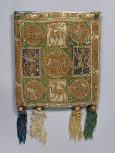 Pouch, 14th century France, Metropolitan Museum of Art, Accession Number: 46.156.34a–e