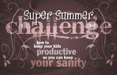 Super Summer Challenge. Great ideas for keeping kids busy in the summer! #summerandkids