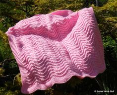twisted old shale baby blanket - knit - free pattern