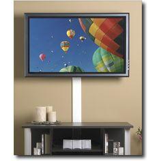 tv ideas on pinterest flat screen tvs tv frames and hide wires. Black Bedroom Furniture Sets. Home Design Ideas